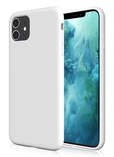 MobilCadde Eiroo Lansman İphone 11 Beyaz Silikon Kılıf Beyaz
